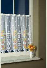 Virágos csipke vitrázsfüggöny