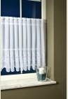 KRASZNA hímzett vitrázs függöny